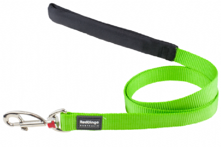 Red Dingo Plain Lime Green Dog Lead